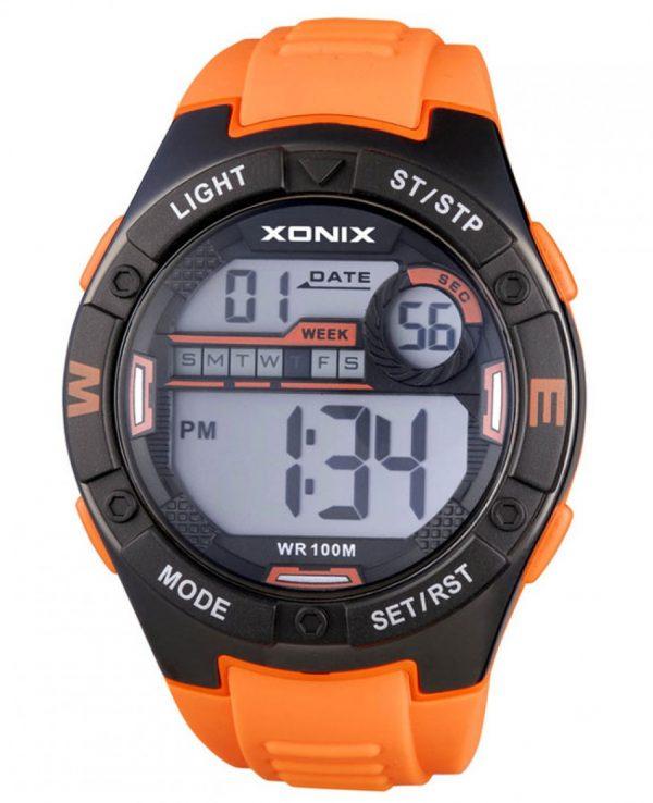 XONIX Chronograph Orange Silicone Strap CC-001