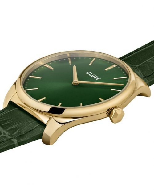 CLUSE Féroce Leather/ Gold/ Forest Green Croco
