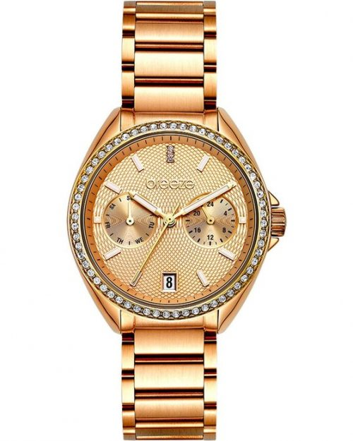 BREEZE Royalisse Rose Gold Stainless Steel Bracelet