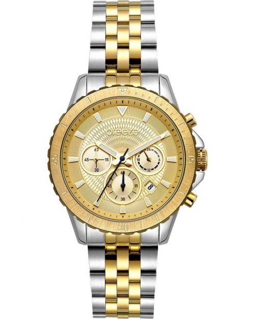 BREEZE Invernia Chronograph Two Tone Stainless Steel Bracelet 712131.2