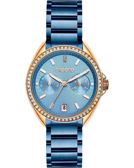 BREEZE Royalisse Blue Stainless Steel Bracelet