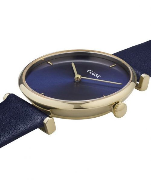 CLUSE Triomphe Blue Leather Strap