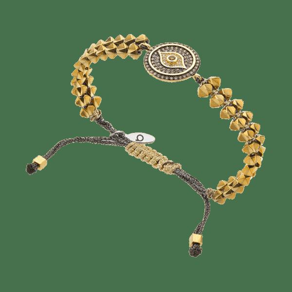 BREEZE Macramé Eye Bracelet, Fine BREEZE metal, Gold-tone plated 310025.1