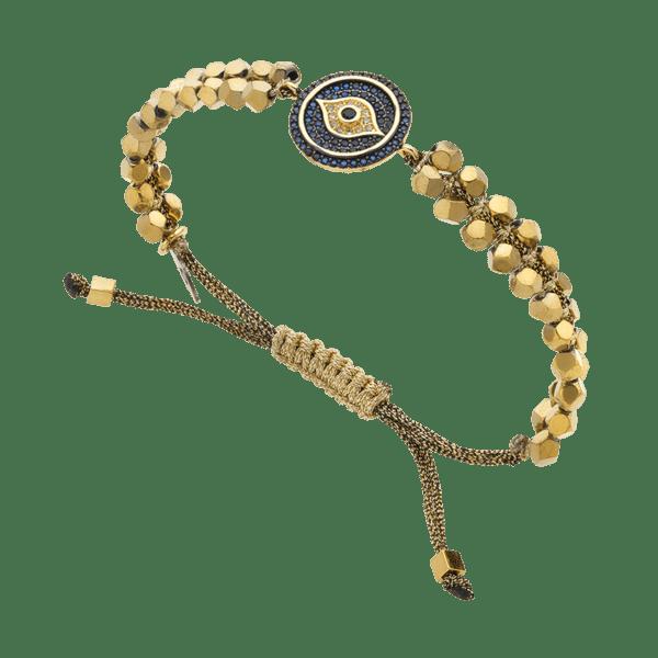 BREEZE Macramé Eye Bracelet, Fine BREEZE metal, Gold-tone plated 310026.1