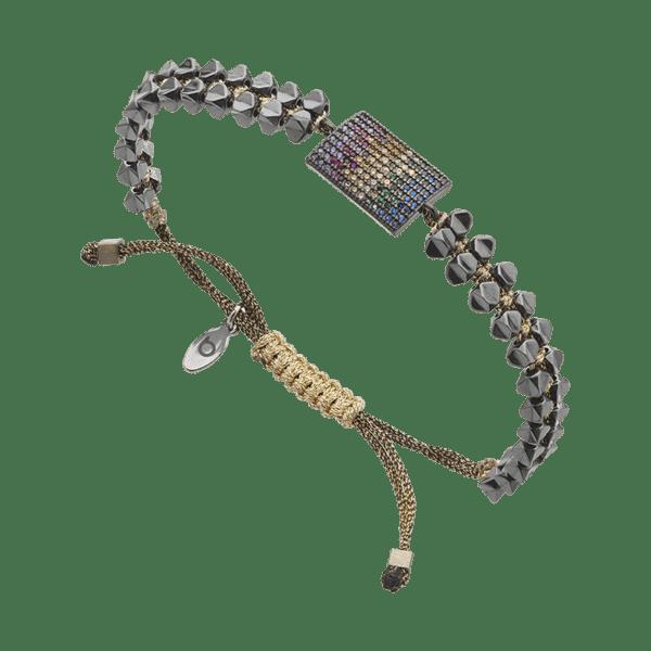 BREEZE Macramé Bracelet, Fine BREEZE metal, Gun Metal-tone plated 310027.9