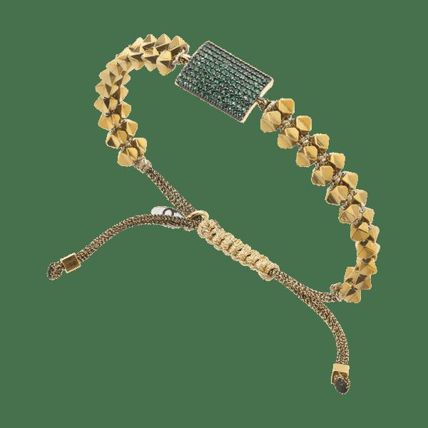 BREEZE Macramé Bracelet, Fine BREEZE metal, Gold-tone plated 310028.1