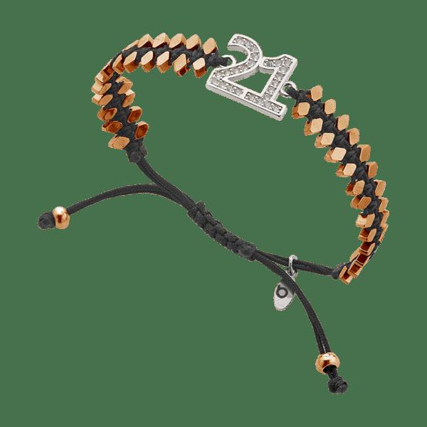 BREEZE Macramé Bracelet, Fine BREEZE metal, Rose Gold Silver-tone plated 310029.3