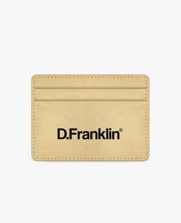 Πορτοφόλι-Θήκη για κάρτες D.Franklin Χρυσό DFKWAL001-0026