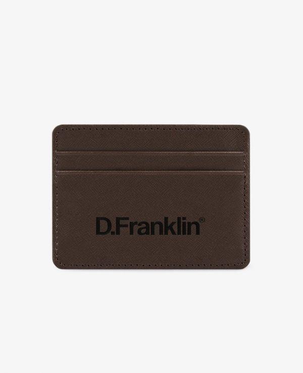 Πορτοφόλι-Θήκη για κάρτες D.Franklin Καφέ DFKWAL001-0022