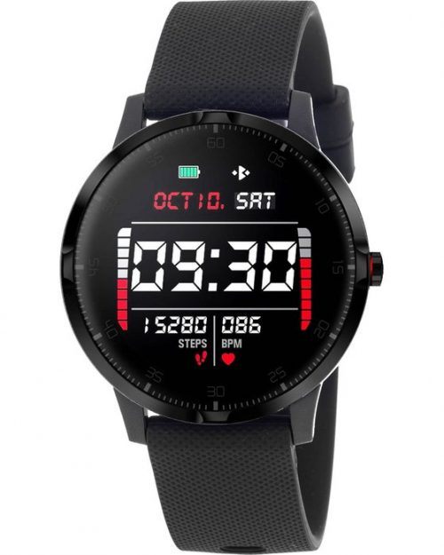 3GUYS Smartwatch Chronograph Black Silicone Strap 3GW1601