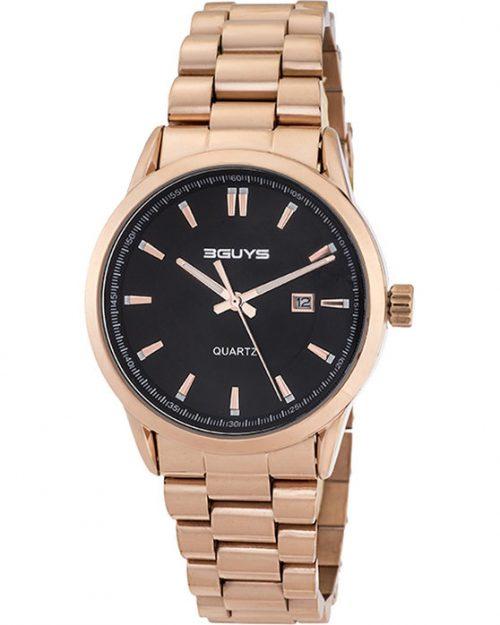 3GUYS Rose Gold Stainless Steel Bracelet 3G05001