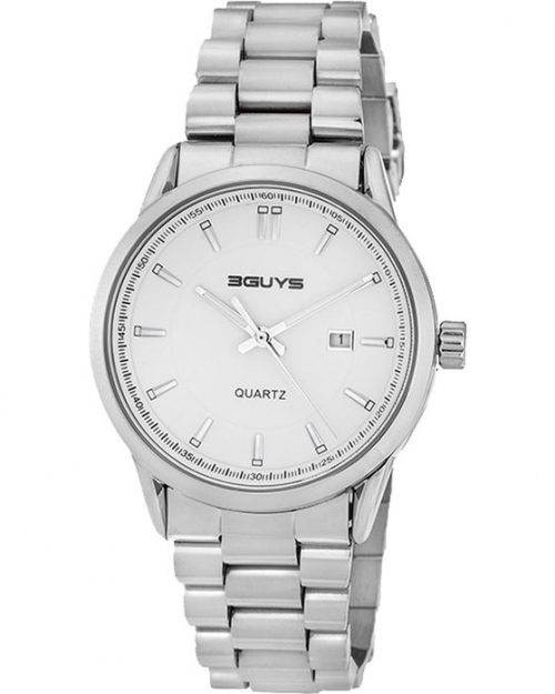 3GUYS Silver Stainless Steel Bracelet 3G05005