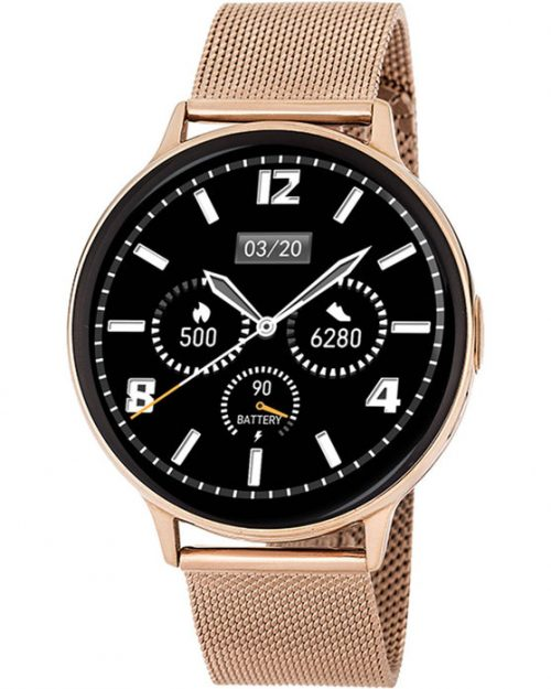3GUYS Smartwatch Chronograph Rose Gold Stainless Steel Bracelet 3GW6203