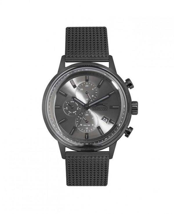 SLAZENGER Black SS Mesh Bracelet SL.09.6288.2.04