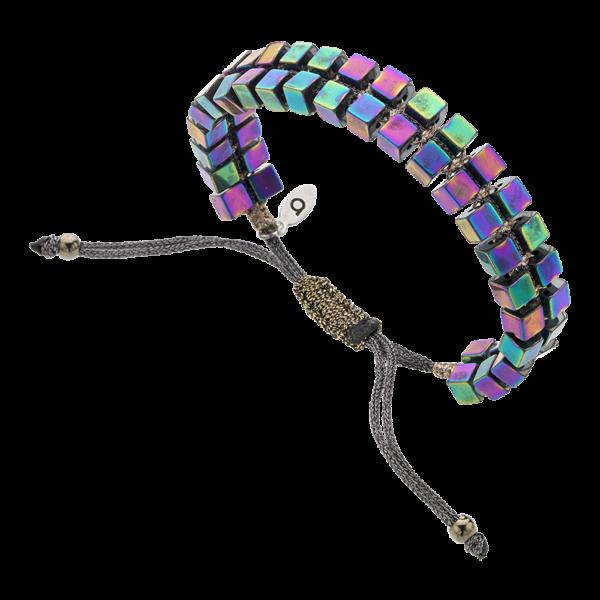 BREEZE Macramé Bracelet, Metalized Cord 310036.12