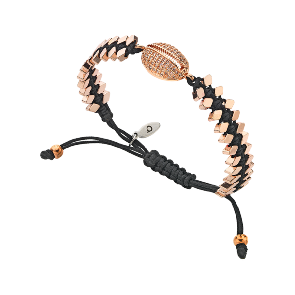 BREEZE Macramé Bracelet, Cord, Rose Gold plated 310040.3