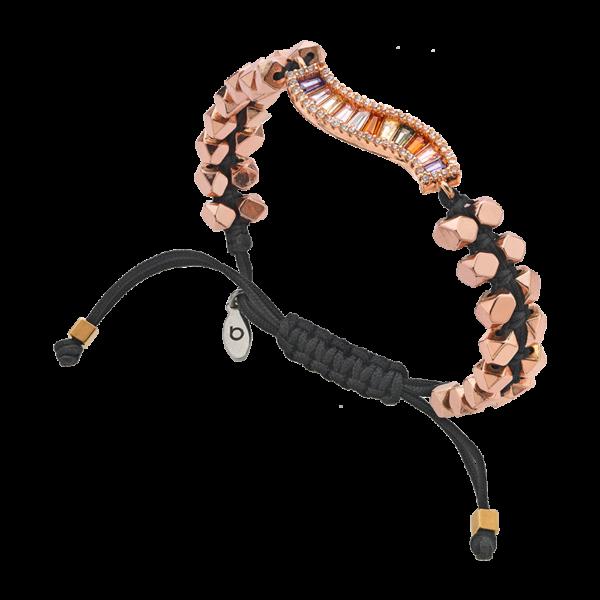 BREEZE Macramé Bracelet, Cord, Alloy, Rose Gold plated 310045.3