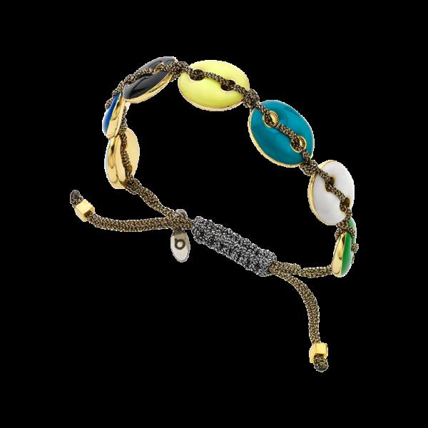 BREEZE Macramé Bracelet, Metalized Cord 310046.1