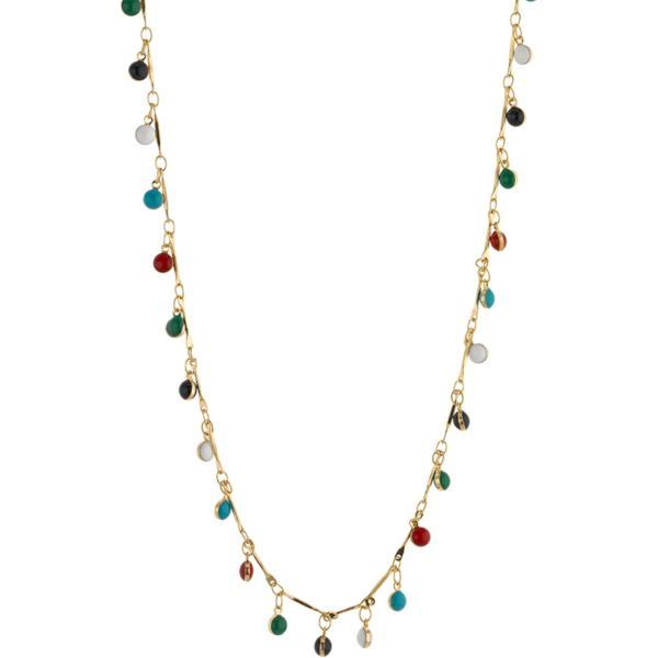 BREEZE Color Drops Necklace, Alloy, Gold-tone plated 410033.1