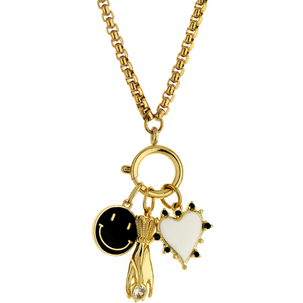 BREEZE Charms Necklace, Alloy, Gold-tone plated 410041.1