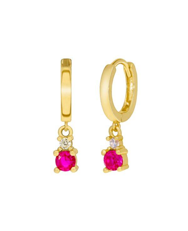 Ασημένια σκουλαρίκια Marea Gold D02001-BB