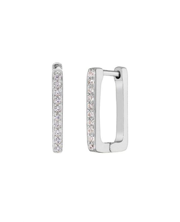 Ασημένια σκουλαρίκια Marea Silver D02001-BG