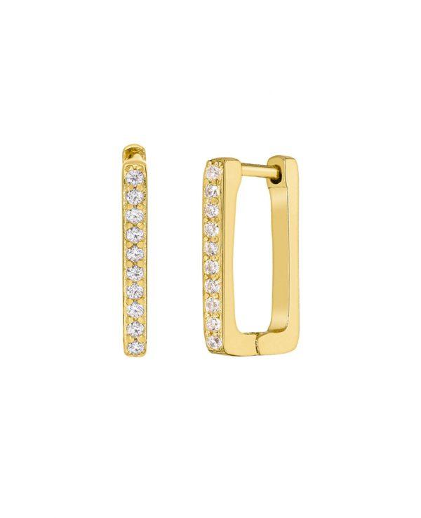 Ασημένια σκουλαρίκια Marea Gold D02001-BI