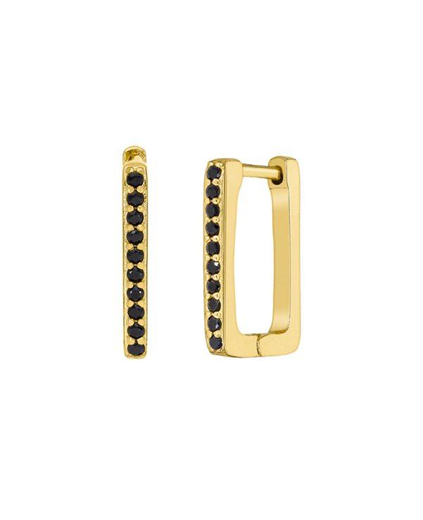 Ασημένια σκουλαρίκια Marea Gold D02001-BK