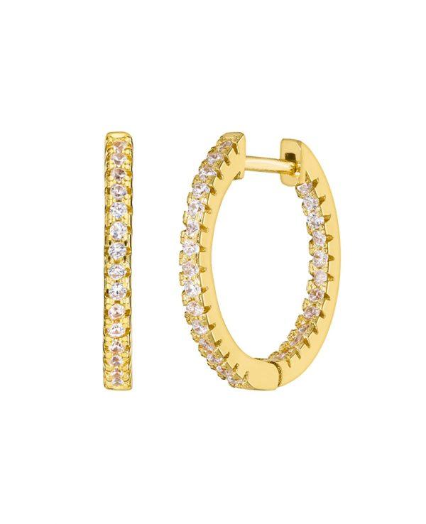 Ασημένια σκουλαρίκια Marea Gold D02001-BN