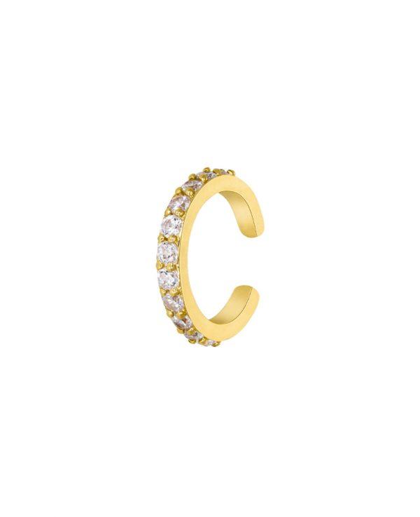 Ασημένια σκουλαρίκια Marea Gold D02001-BX