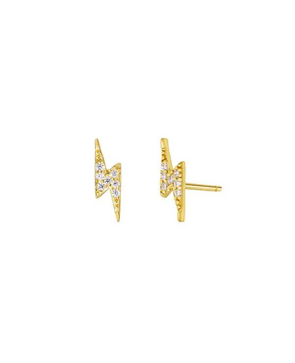 Ασημένια σκουλαρίκια Marea Gold D02001-CQ