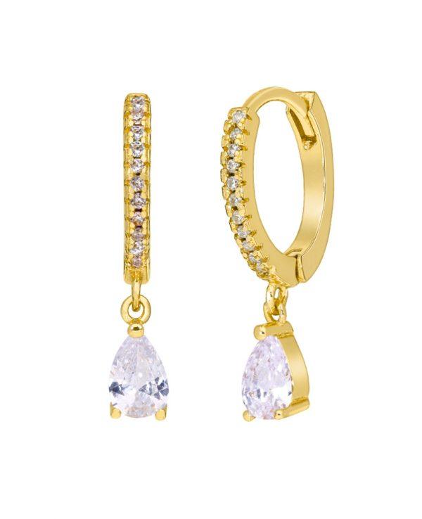 Ασημένια σκουλαρίκια Marea Gold D02001-CS