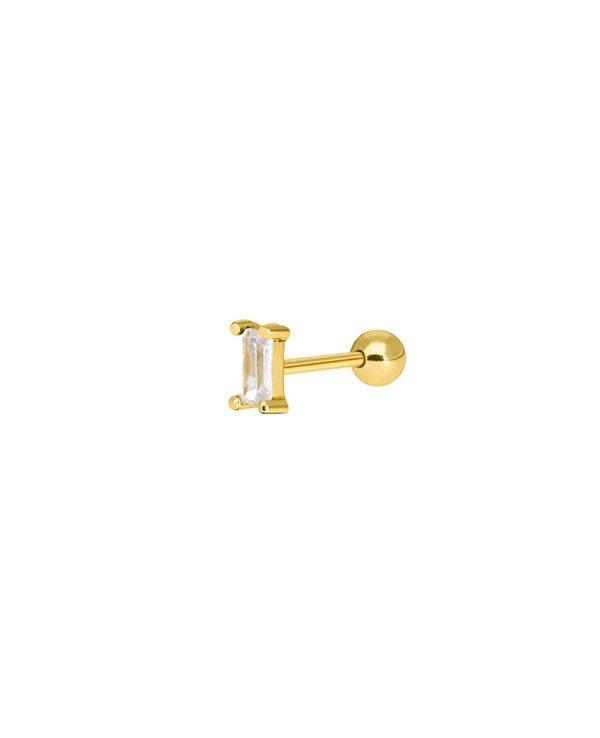 Ασημένια σκουλαρίκια Marea Gold D02010-AE