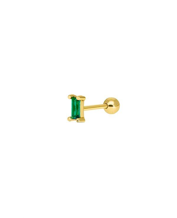 Ασημένια σκουλαρίκια Marea Gold D02010-AG