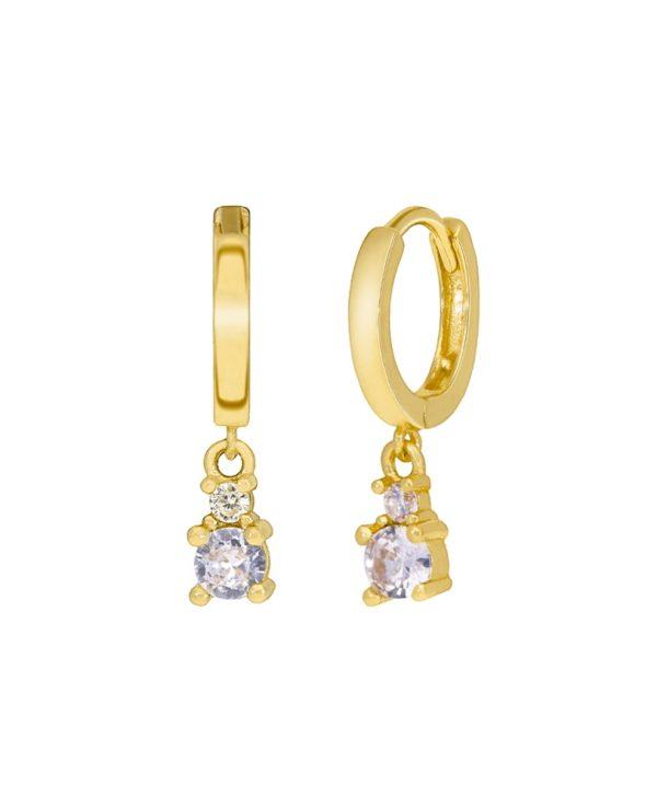 Ασημένια σκουλαρίκια Marea Gold D02001/AX