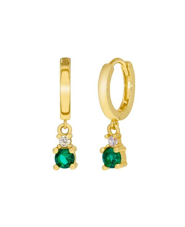 Ασημένια σκουλαρίκια Marea Gold D02001-AY