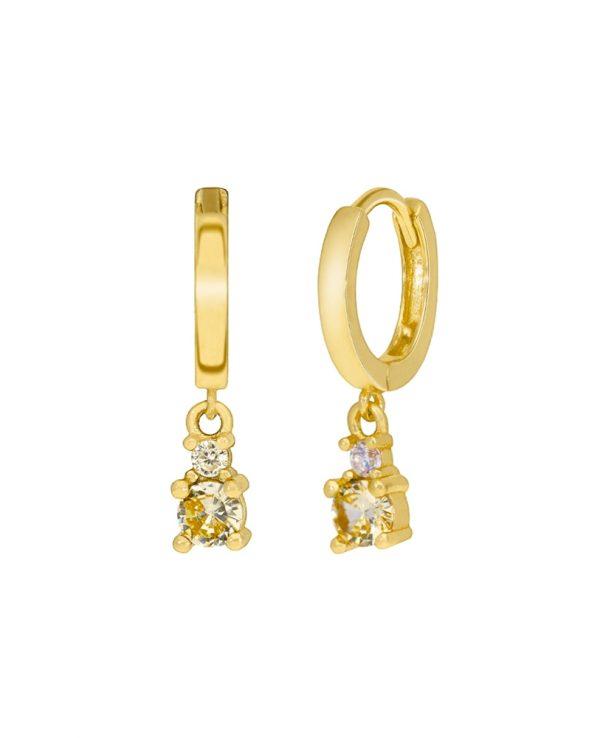 Ασημένια σκουλαρίκια Marea Gold D02001-AZ