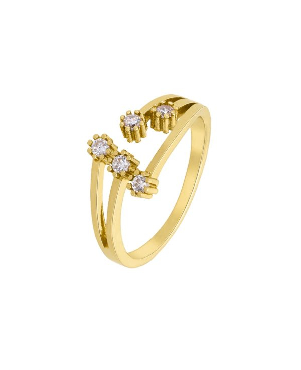 Ασημένιο δαχτυλίδι Marea Gold D02006-AM