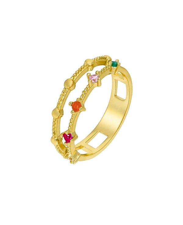 Ασημένιο δαχτυλίδι Marea Gold D02006-AR