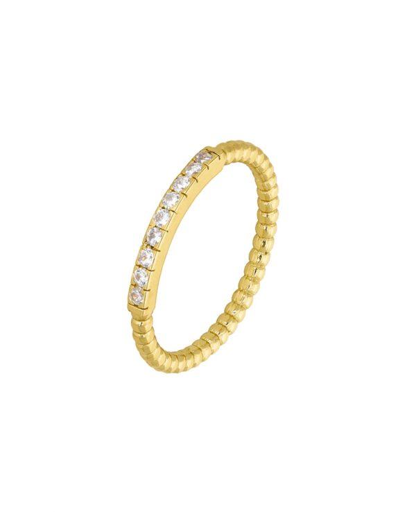 Ασημένιο δαχτυλίδι Marea Gold D02006-AU