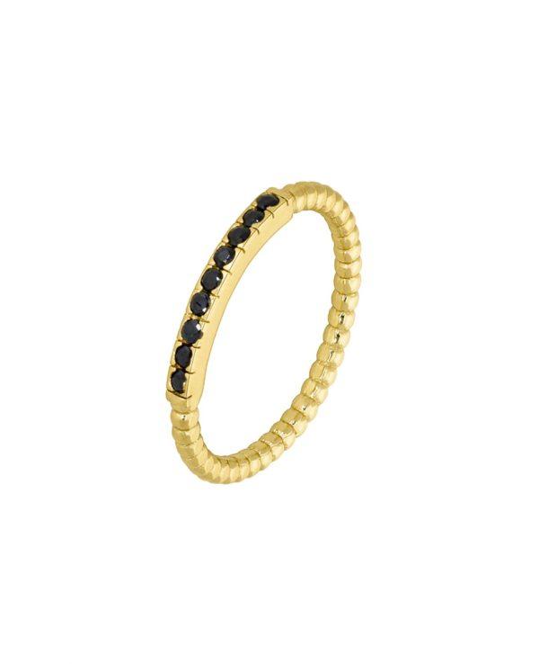 Ασημένιο δαχτυλίδι Marea Gold D02006-AW